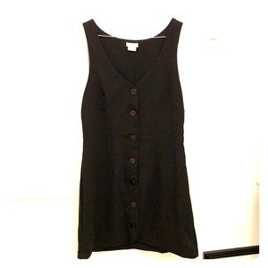 Cooperative Black Tuxedo Vest Dress, Like New